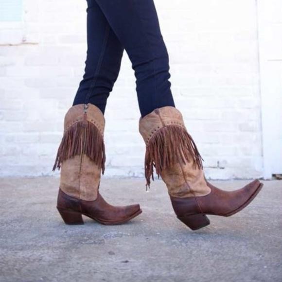 5affbcf49df Tony Lama fringe cowboy boots 8.5 AUTHENTIC!
